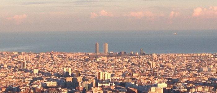 vistas de Barcelona desde la zona alta