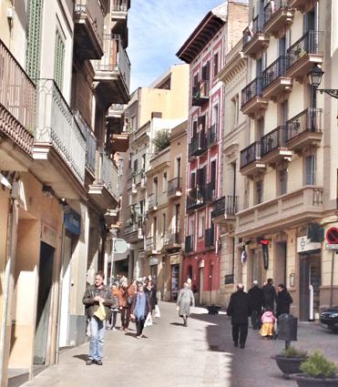 calles del barrio de Sarrià