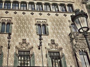 Detalles fachada casa Amatller