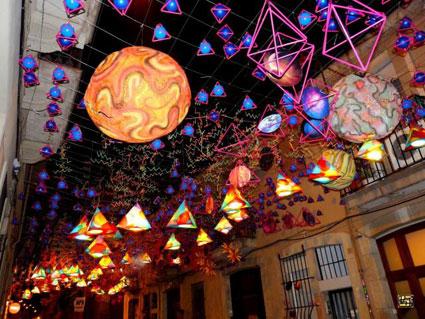 Fiestas de Gracia en agosto en barcelona
