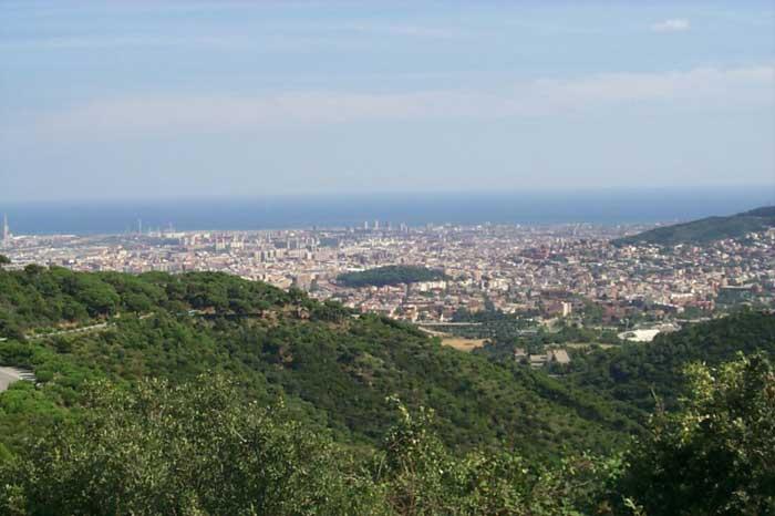 Parque de Collserola en la zona alta de Barcelona