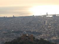La zona alta de Barcelona desde el cielo