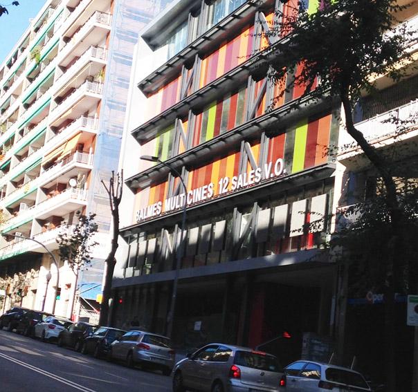 multicines Balmes zona alta de Barcelona