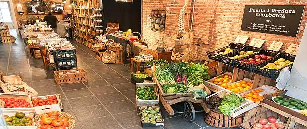 alimentación ecológica en la parte alta de Barcelona