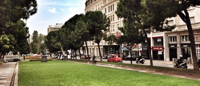 Zonas verdes de Sant Gervasi Galvany Barcelona