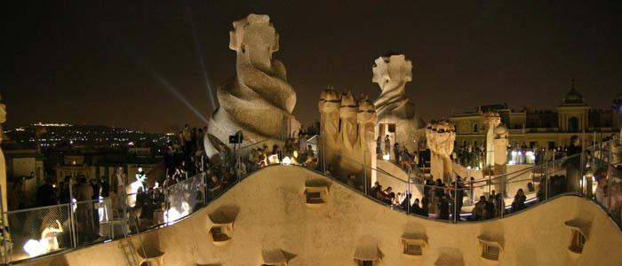 Noches de verano en La Pedrera en el centro de Barcelona