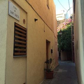 Acceso plaça Sant Gaietà Sarrià
