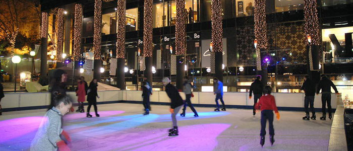 Pista de hielo en Pedralbes Center Barcelona