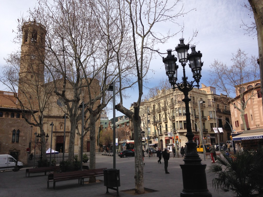 Plaza Sarrià zona alta Barcelona