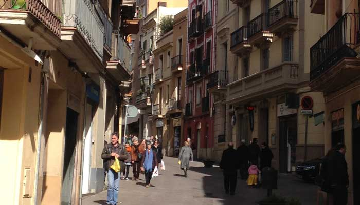 Calles peatonales en Sant Gervasi