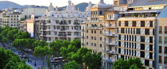 Vista de una de las mejores zonas para vivir en Barcelona en la zona alta